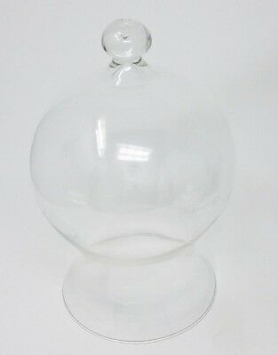 Vintage Glass Bell Jar Cloche Apothecary Display Dome Unique Shape-Made in Italy