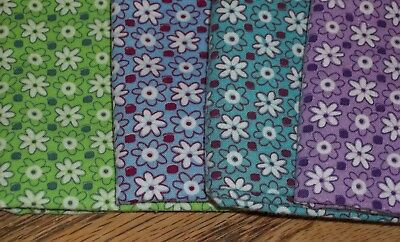 Vintage PURPLE Feed Sack Feedbag Quilt Fabric Small Purple White Flowers Floral
