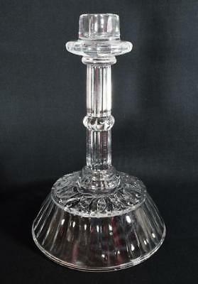 Antique Victorian Sowerby Glass Candlestick 1887 Reg No 77881