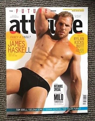 Vintage Attitude Magazine February 2013 James Haskell Rugby Rylan - Gay Interest