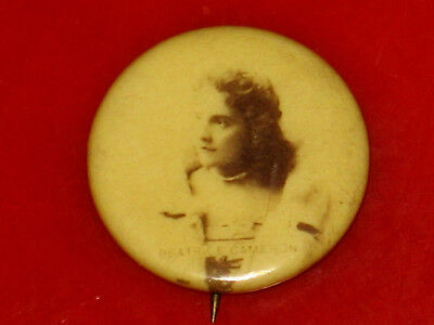 Vintage 1890'S American Stage Actress Sweet Caporal Pin Pinback Button Badge