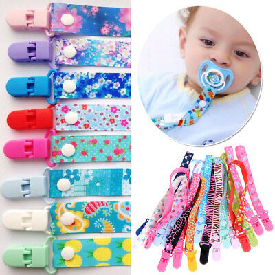Beautiful Boys Girls Dummy Clip Baby Soother Clips Chain Holder Pacifier Strap
