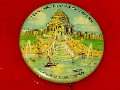 Vintage 1904 Louisiana Purchase World's Fair, St. Louis Pin Pinback Button Badge