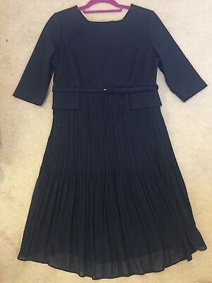 Seraphine Luxe Navy Maternity Dress Size 14