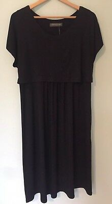 BNWT Mothercare Maternity &Nursing Black Dress Size 16