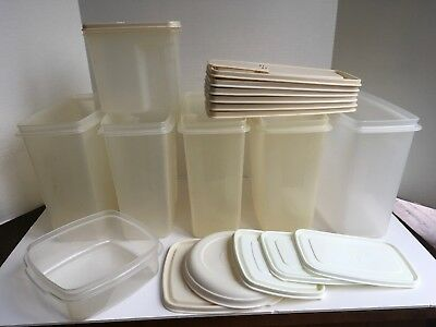 VTG LOT Rubbermaid SERVIN SAVER Cereal 21 Cups 1.3 Gallon BONUS 1 Qt+ 5 C + LIDS