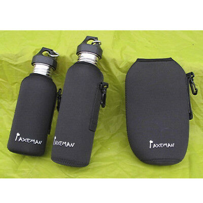 Drawstring Sports Water Bottle Sleeve Carrying Pouch Bag Holder Cover Outdoors