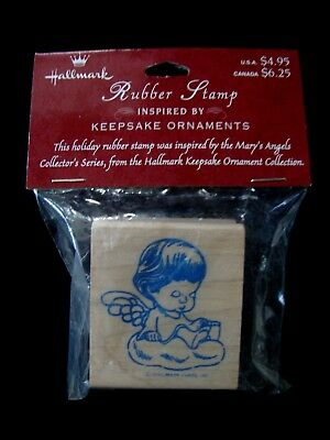 Nos Hallmark Keepsake Ornament Inspired Rubber Stamp Mary's Angels Buttercup