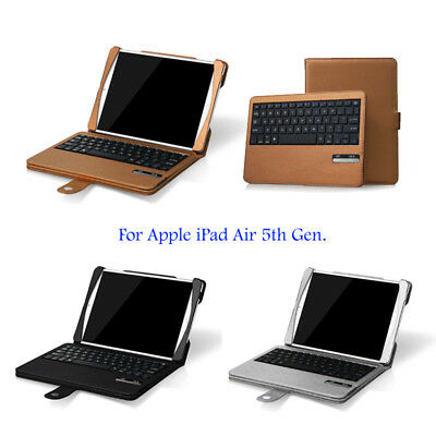 Bluetooth Wireless Keyboard Leather Case Cover for Apple iPad Air 1 and 2nd