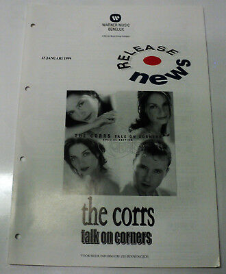 The Corrs Promo Dutch Warner Release Folder Talk On Corners January 1999 Holland
