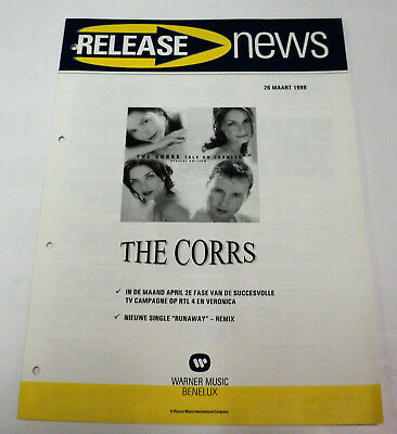 The Corrs Promo Dutch Warner Release Folder Talk On Corners March 1999 Holland