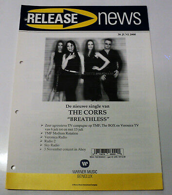 The Corrs Promo Dutch Warner Release Folder Breathless June 2000 Holland