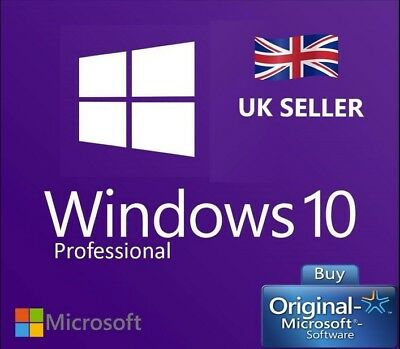 Microsoft Windows 10 Pro Professional 32 64 bit LICENSE KEY New Instant Delivery