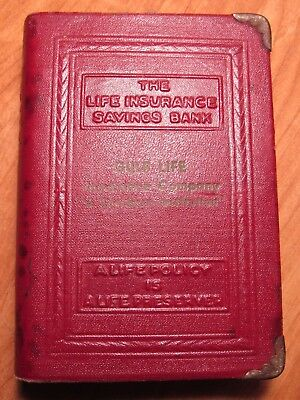 OLD 1920's BOOK SAVINGS BOX - GULF LIFE INSURANCE SOUTHERN INST JACKSONVILLE FLA