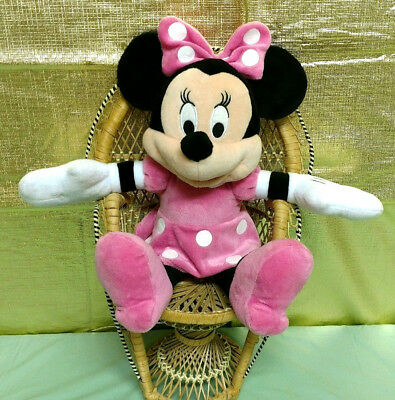 """Just Play Disney Minnie Mouse Pink 16"""" Plush Stuffed Animal Mickey And Friends"""