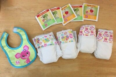 Hasbro Baby Alive Bib, Food And 4 Diapers