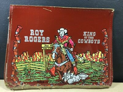 Roy Rogers Vinyl School Bag Front Only 50's King of the Cowboys Double R Ranch p