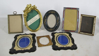Antique/Vintage Collection (8) Photo Photograph Frames Gilt Mother of Pearl yqz