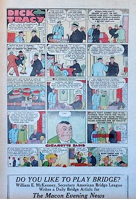 Dick Tracy by Chester Gould - full tab page color Sunday comic - May 21, 1933