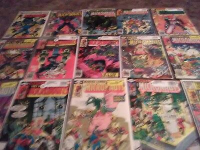 MICRONAUTS 1979 Bronze Age lot #1 4 7 9-15 27-52 37 Annual 2 (47 comics) Marvel
