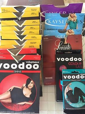 Pantihose Mixed - Larger Figure Voluptuous. All Brand New In Boxes X 16pr