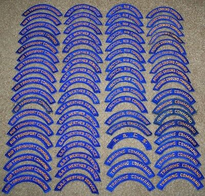 Huge Lot Of Original Ww2 Era Air Force Command Patch Tabs!