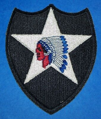 ORIGINAL CUT-EDGE WW2 2nd INFANTRY DIVISION PATCH