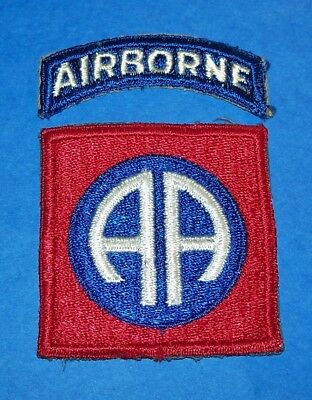 ORIGINAL CUT-EDGE WW2 82nd AIRBORNE DIVISION PATCH & TAB