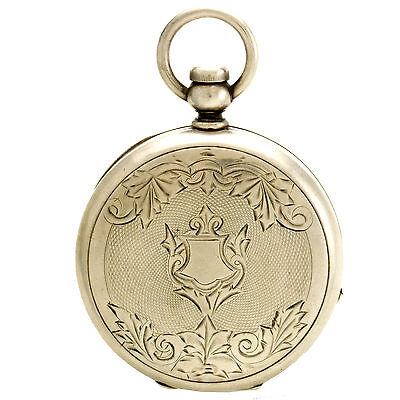 Coin Silver Hunter Case Keywind/Keyset Private Label Pocket Watch CA1880s