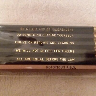 New RUTH BADER GINSBURG Notorious RBG & Other Inspirational Messages Pencil Set