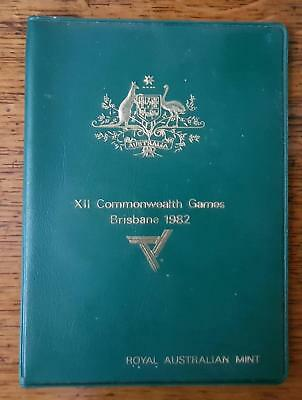 Ram 1982 Commonwealth Games Australia Coin Set Green Wallet Very Yucky Sticky