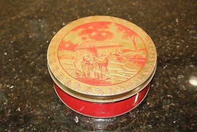 Advertising Tin with Vintage Sewing Contents Singer Needles Binding