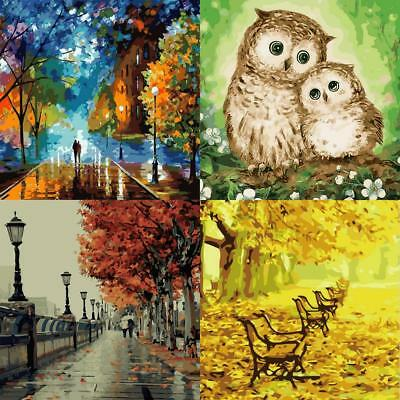 4 Type Modern DIY Paint By Number On Canvas Oil Painting Set Wall Home Decor Art
