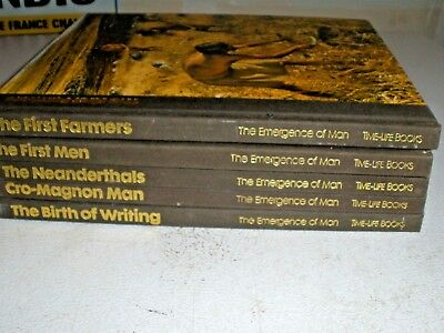 Lot of 5 HC Time Life Books The Emergence of Man 1970's