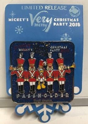 Disney's 2018 WDW Mickey's Very Merry Christmas Party Donald Passholder Pin ,New