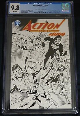 Action Comics #1000 Dan Jurgens Wraparound Sketch Edition Variant CGC 9.8 NM/MT
