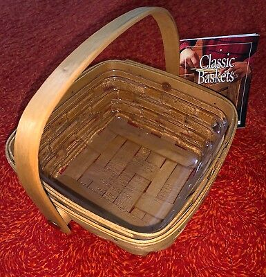 Longaberger 1999 Classic Small Berry Basket #11312 w/Protector & Leaflet