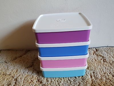 Tupperware - Large Square Away 620ml x 4 containers  - New Sandwich Keeper