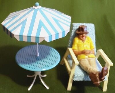 """Awesome Mini 3-5"""" Novelty Set Old Man at the Beach Decor"""