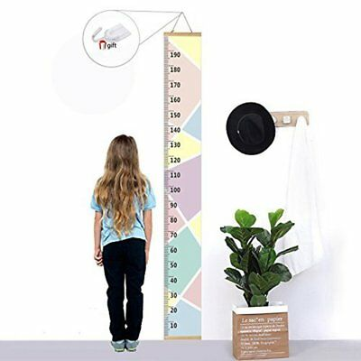 US New Home Children Wooden Growth Ruler Scale Chart Baby Kids Hanging Measure