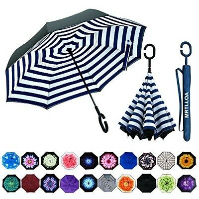 Double Layer Inverted Umbrella with C-Shaped Handle, Anti-UV Waterproof