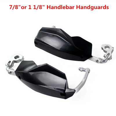 "Pair Motorcycle 7/8"" or 1 1/8"" Handlebar Handguards Black Hand Guards Protection"