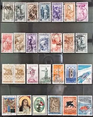 Selection of Used Stamps from Italy - see photo (18)