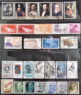 Selection of Used Stamps from Spain - see photo (15)