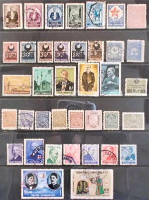 Selection of Used Stamps from Turkey - see photo (4)