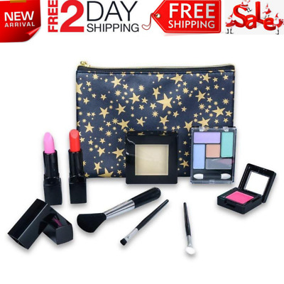 Washable Cosmetics Set for Little Girls All-InOne Real Kids Makeup Kit With Bag