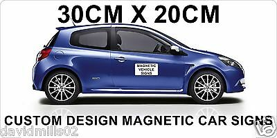 Magnetic Vehicle Signs for Cars, Vans, Trucks 20cmx30cm