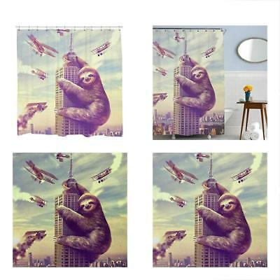 Slothzilla Shower Curtain Sets Funny Waterproof Climbing New York 72x72 Inches