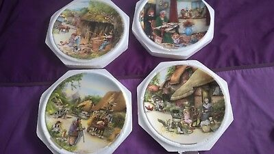 Royal Doulton Collectors Plates - Old Country Crafts - Set Of 12