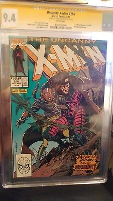 X-Men #266 CGC 9.4 SS WHITE *1st Appearance of Gambit* SIGNED BY CHRIS CLAREMONT